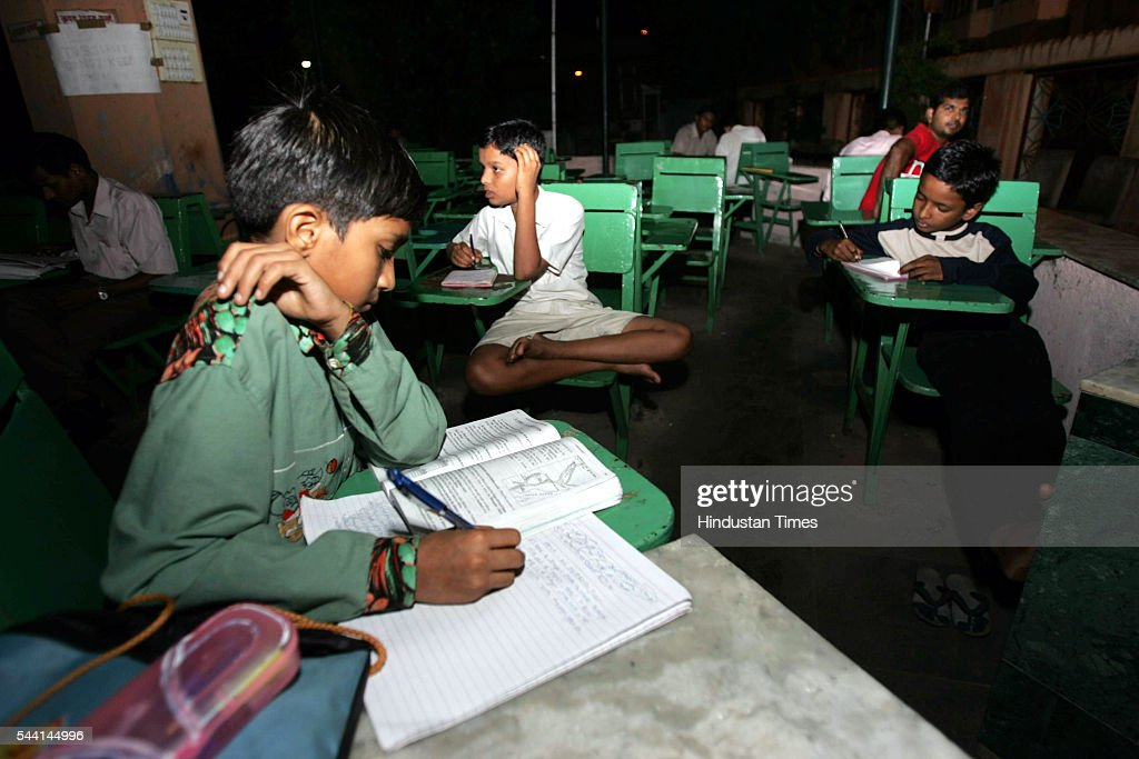 Students studing in the night at Study Circle near Churny Road station.