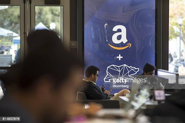 Students study inside an Amazoncom Inc kiosk on the University of California Berkeley campus in Berkeley California US on Wednesday Oct 12 2016 By...