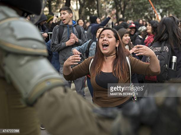 Students take part in a demonstration demanding the government to improve the quality of public education and demanding greater participation in the...