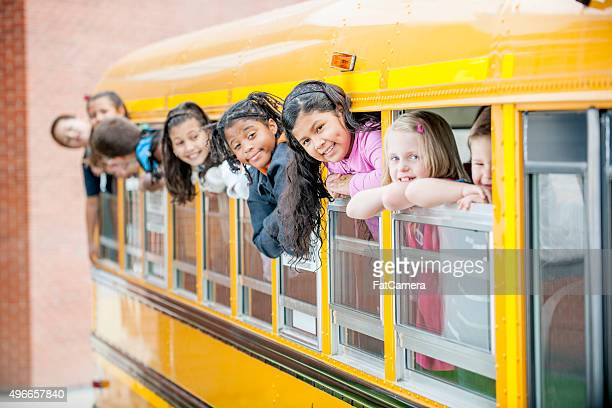 Students Taking the Bus to School