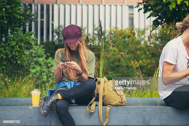 students texting
