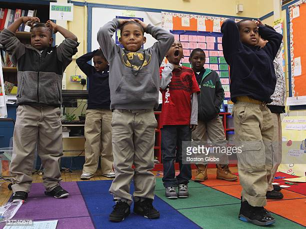 Students took a timeout during a math class at the HigginsonLewis K8 School in Roxbury Tuesday Jan 10 2012 Boys and girls at the school are separated...