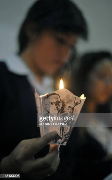 Students visit the crypt of Monsignor Juan Jose Gerardi in Guatemala's ...