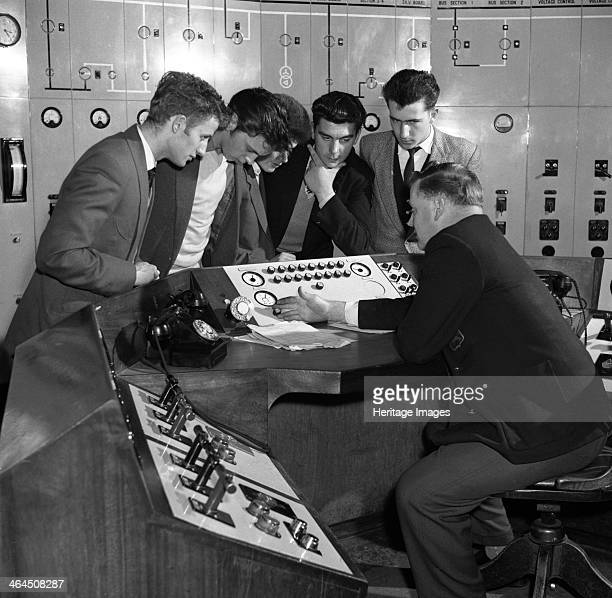 Students visiting Mexborough Power Station South Yorkshire 1960 A visit by students of Schofield Technical College