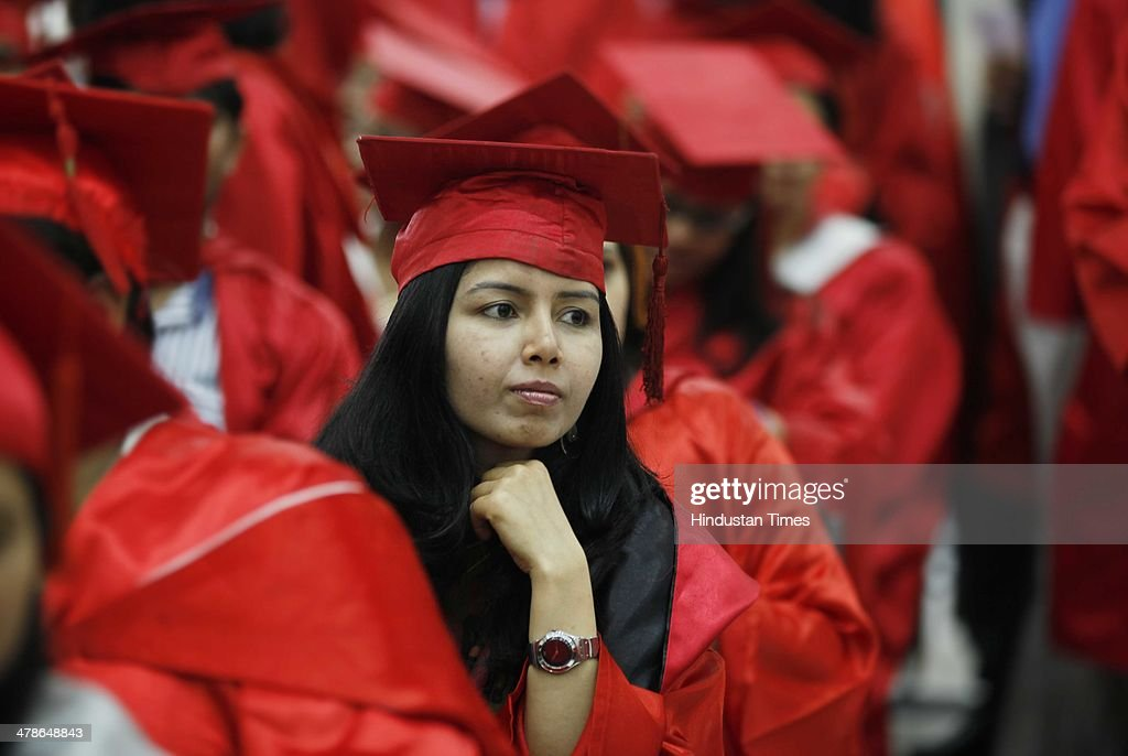 Students wait to collect their degrees during the 91th annual convocation of Delhi University at Old Vice-Regal Lodge on March 14, 2014 in New Delhi, India. Lt Governor Najeeb Jung was the chief guest.