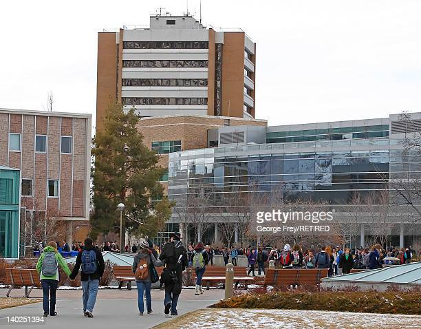 Students walk across the campus of Brigham Young University on March 1 2012 in Provo Utah BYU is the alma mater of Republican US presidential...