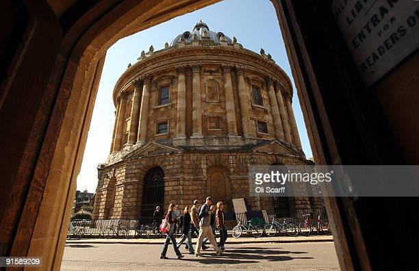 Students walk through Oxford city centre as Oxford University commences its academic year on October 8 2009 in Oxford England Oxford University has a...