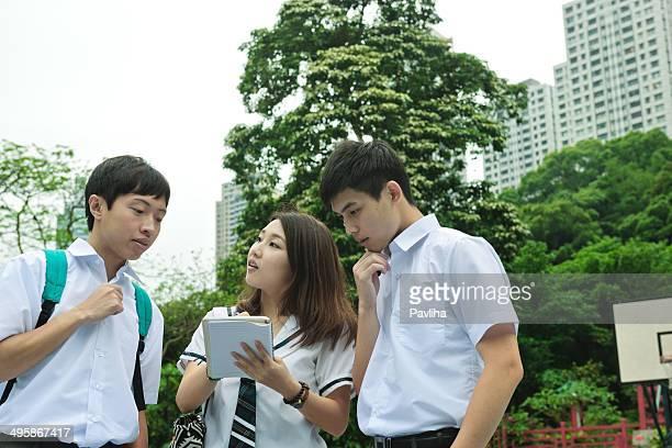 Students Walking in Hong Kong