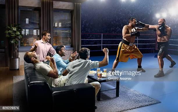 Students watching Boxing at home