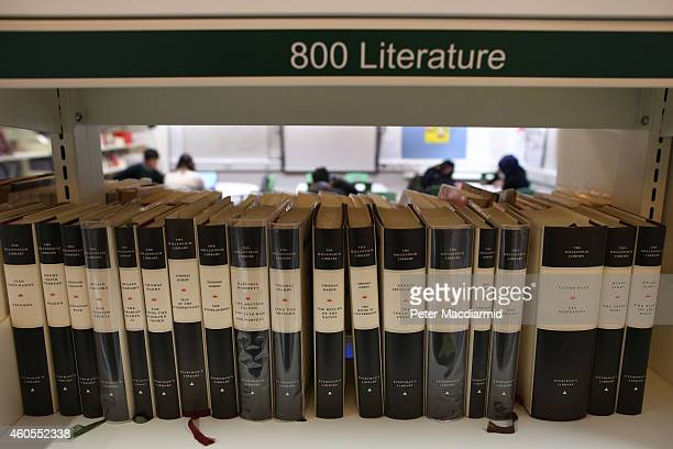 Students work in the library at a secondary school on December 1 2014 in London England Education funding is expected to be an issue in the general...