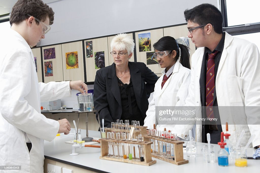 Students working in lab : Stock Photo