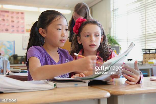 Students working together in class