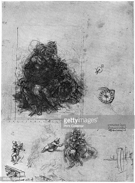 Studies for 'The Virgin and Child with St Anne and John the Baptist' 1503 Found in the collection of the British Museum A print from Leonardo da...