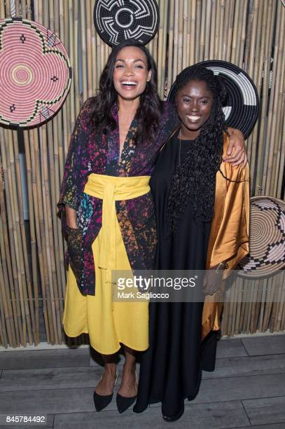 Studio 189 Designers Rosario Dawson and Abrima Erwiah attend the Studio 189 show during New York Fashion Week Style360 at Metropolitan Pavilion on...