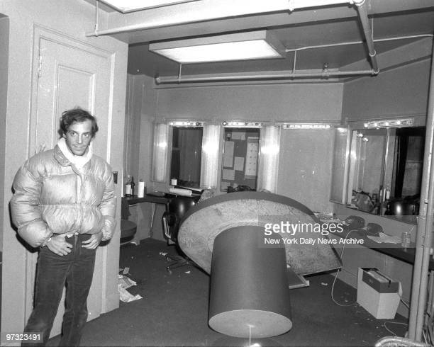 Studio 54 coowner Steve Rubell stands in disco office which he claims was ransacked by federal agents looking for drugs The agents entered the office...