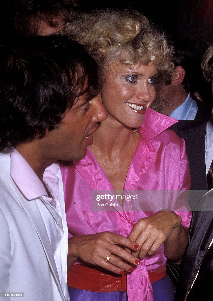 Studio 54 owner Steve Rubell and singer Olivia Newton-John attend the 'Grease' Premiere Party on June 13, 1978 at Studio 54 in New York City.