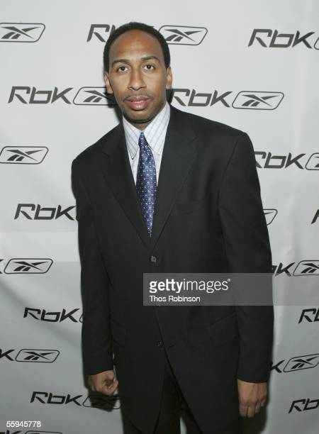 Studio Analyst Stephen A Smith attends RBK's Celebration Of Ten Years Of Allen Iverson at Canal Room on October 17 2005 in New York City