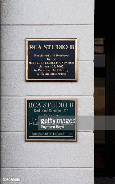 RCA Studio B plaques on January 1 2016 in Nashville Tennessee