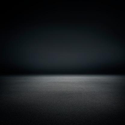 Studio black background