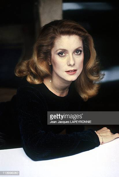 Studio Catherine Deneuve in France in November 1985