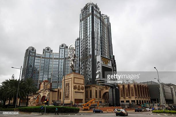 Studio City casino resort developed by Melco Crown Entertainment Ltd stands in Macau China on Saturday Aug 29 2015 Macau is scheduled to release...