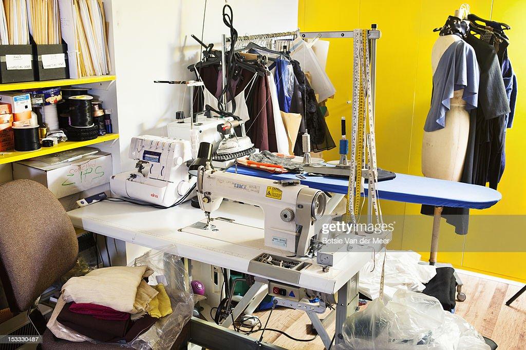 Studio of fashion designer. : Stock Photo