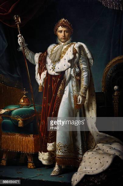 Studio of Francois Gerard French painter Portrait of Emperor Napoleon I 18051815 Rijksmuseum Amsterdam Holland