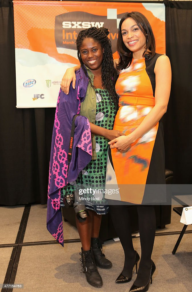 Studio One Eighty Nine co-founders Abrima Erwiah (L) and actress <a gi-track='captionPersonalityLinkClicked' href=/galleries/search?phrase=Rosario+Dawson&family=editorial&specificpeople=201472 ng-click='$event.stopPropagation()'>Rosario Dawson</a> attend 'Star Power: Innovative Ways to Engage Millennials' during the 2014 SXSW Music, Film + Interactive Festival at Austin Convention Center on March 7, 2014 in Austin, Texas.