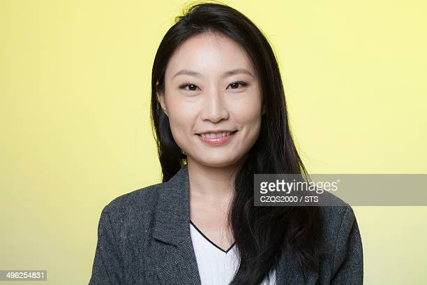 studio photo of businesswoman