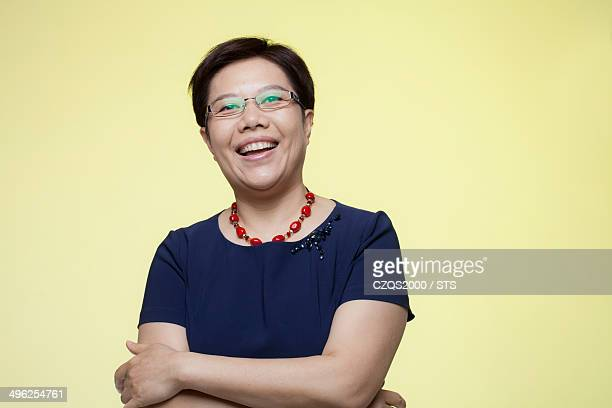 studio photo of senior businesswoman