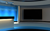 Tv studio , 3d render