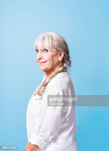 Studio portrait of a beautiful senior woman