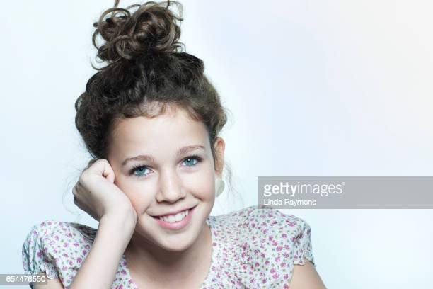 Studio portrait of a pretty girl