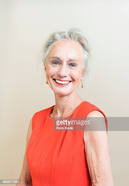 Studio portrait of a senior woman