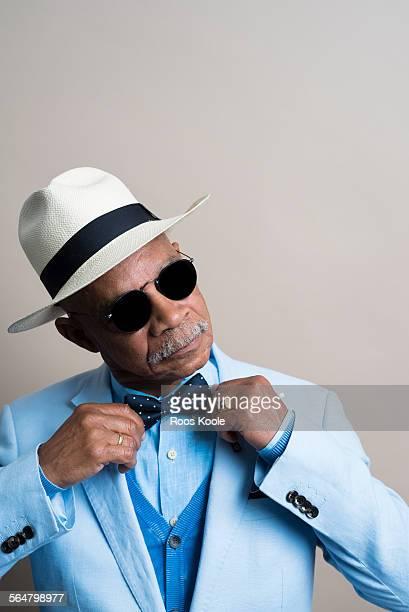 Studio portrait of a stylish senior man