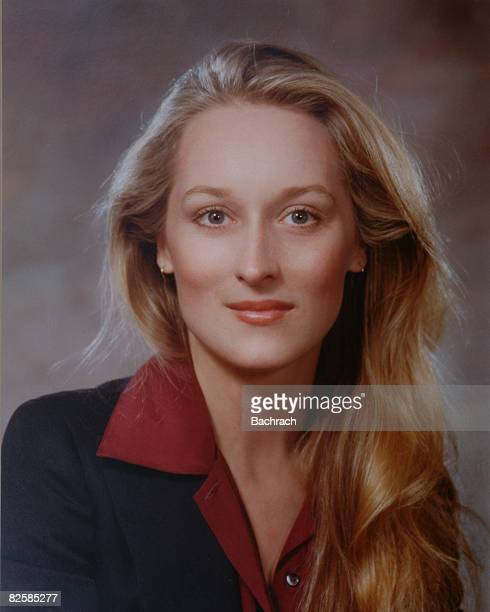 Studio portrait of American actress Meryl Streep late 1970s or early 1980s