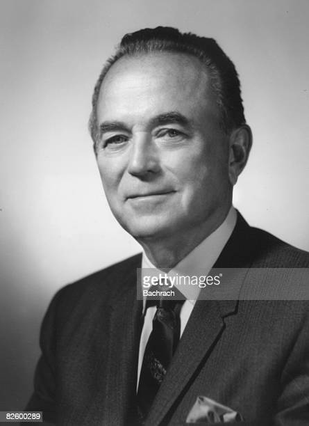 Studio portrait of American businessman and McDonald's Corporation chairman Ray Kroc 1950s