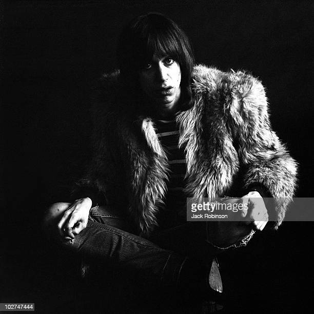 Studio portrait of American musician Iggy Pop then a member of The Stooges in February 1970 in the United States