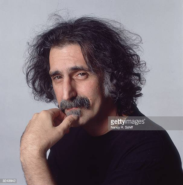 Studio portrait of American rock and roll musician Frank Zappa