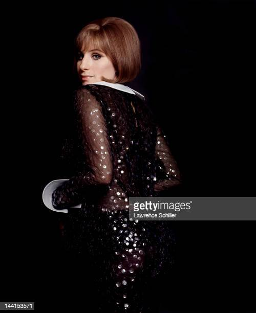 Studio portrait of American singer and actress Barbra Streisand against a black background Los Angeles California 1969