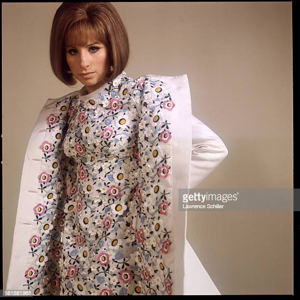 Studio portrait of American singer and actress Barbra Streisand in support of her motion picture 'On a Clear Day You Can See Forever' Los Angeles...
