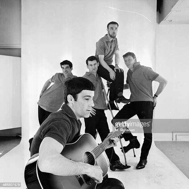 Studio portrait of band Alex Harvey and His Soul Band April 15th 1964