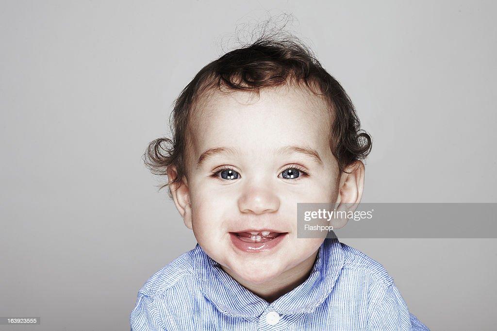 Studio portrait of boy : Stock Photo
