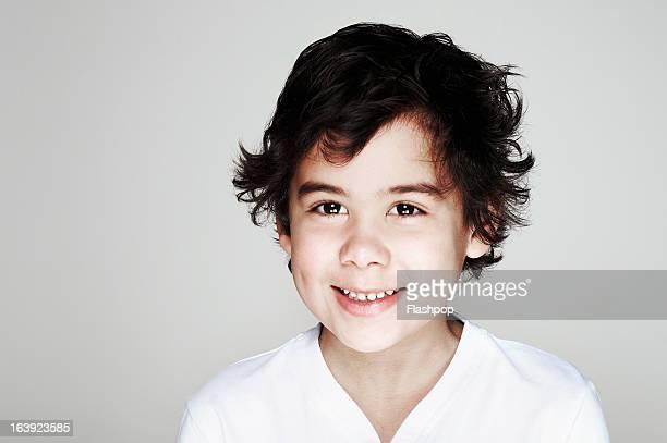 Studio portrait of boy