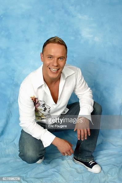 Studio portrait of British pop singer Rick Guard