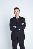 Studio portrait of businessman