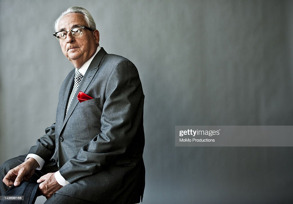 studio portrait of businessman : Stock Photo
