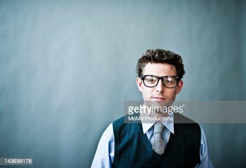 studio portrait of businessman : Stock Photo