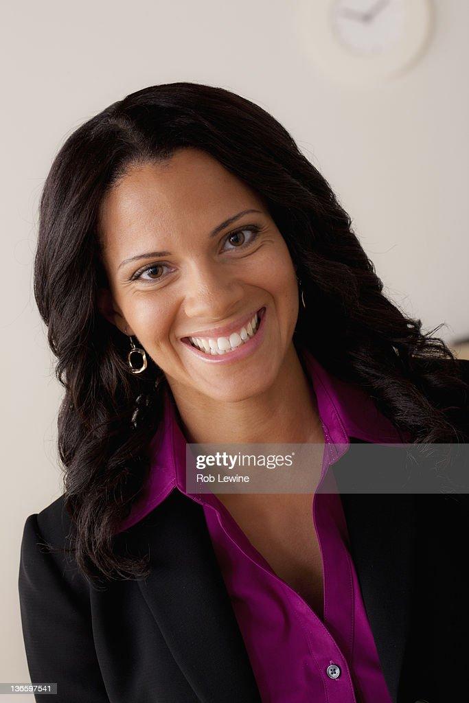 Studio portrait of businesswoman : Stock Photo