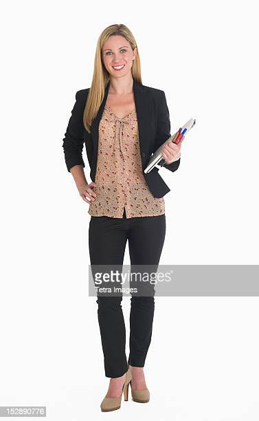 Studio portrait of businesswoman
